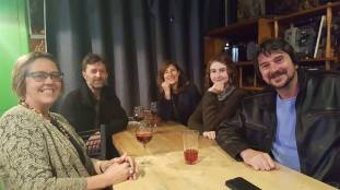 Wellington Writers Group (Janis, Mark, Niamh, Molly and Chris)